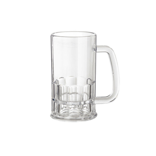 GLASS BEER MUG ACRYLIC 12OZ