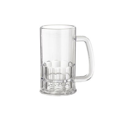 GLASS BEER MUG ACRYLIC 12OZ