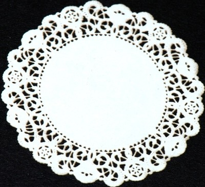 DOILY LACE ROUND WHITE 1000/12INCH