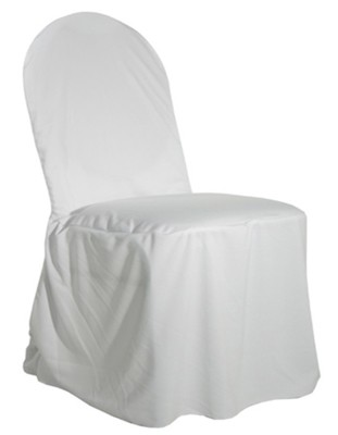 CHAIR COVER BANQUET WHITE ROUNDED 1/1EACH