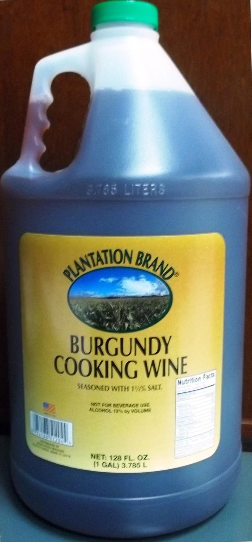 (PLANTATION)WINE COOKING BURGUNDY 4/1GAL