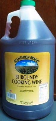 (PLANTATION)WINE COOKING BURGUNDY 4/1GAL