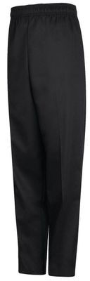CHEF PANTS BLACK ELASTIC LARGE 1/1EACH