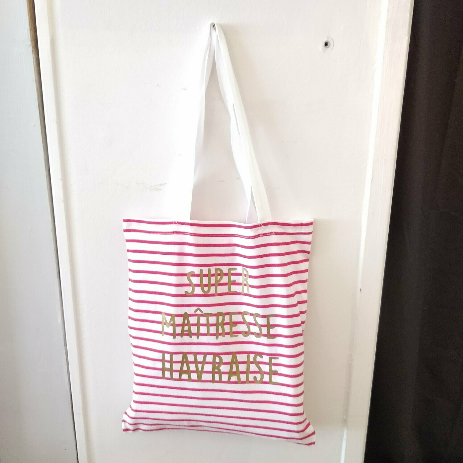 Tote bag rouge et or