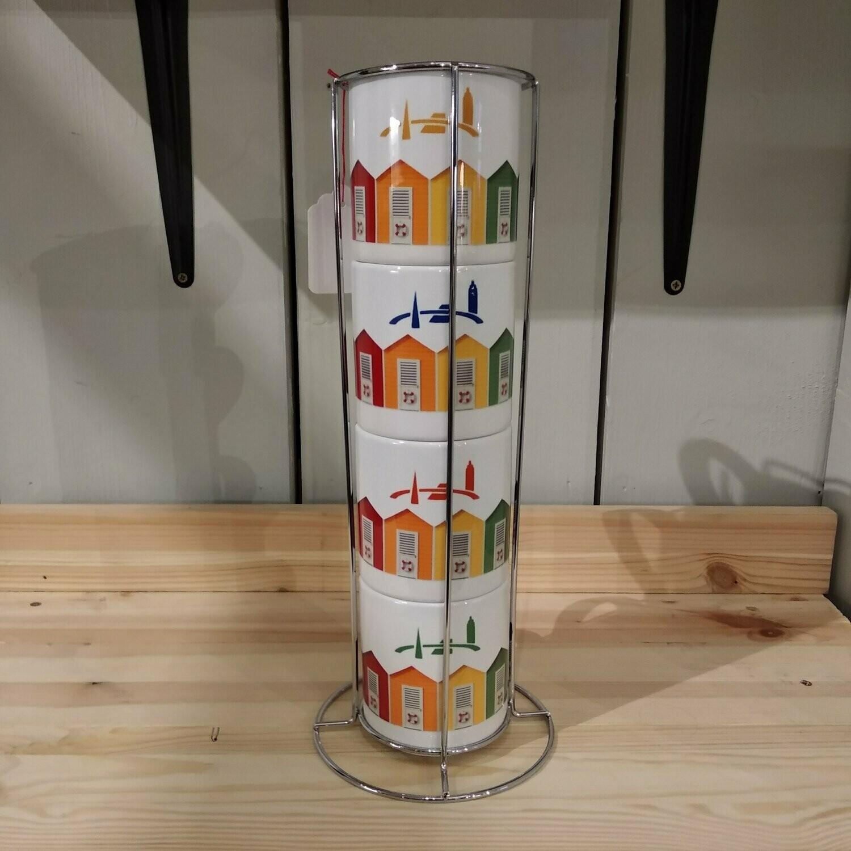 Set de 4 mugs