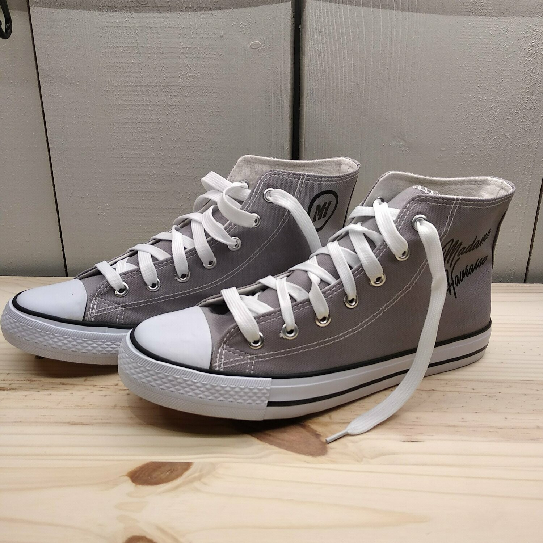 Basket en toile grise