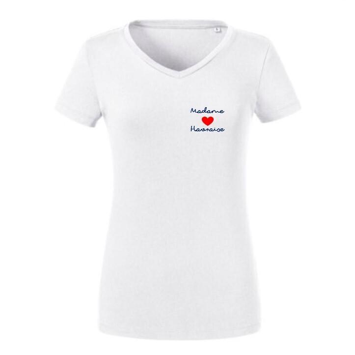 T-shirt brodé coton organique blanc