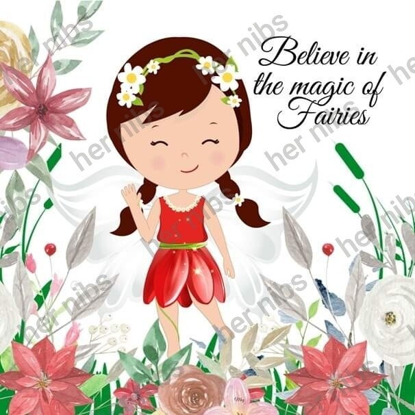 Greetings card Believe in the magic of fairies