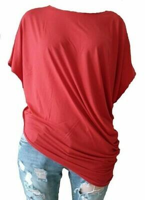 Asimetrična tunika crvena