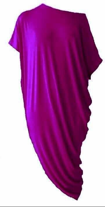 Asimetrična haljina fuksija