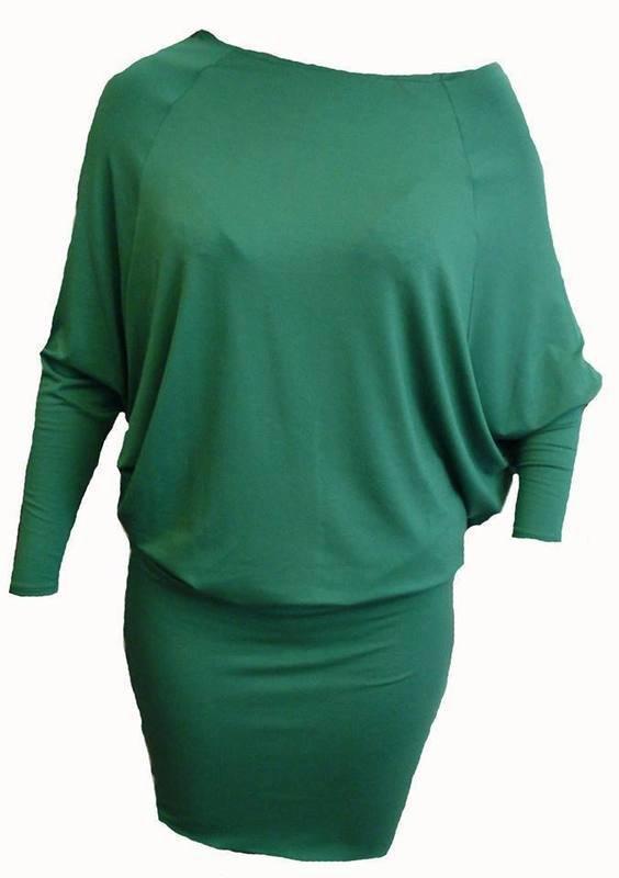Haljina Šišmiš zelena
