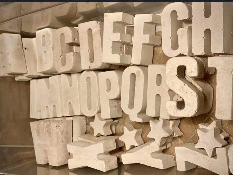 Small Concrete Letters