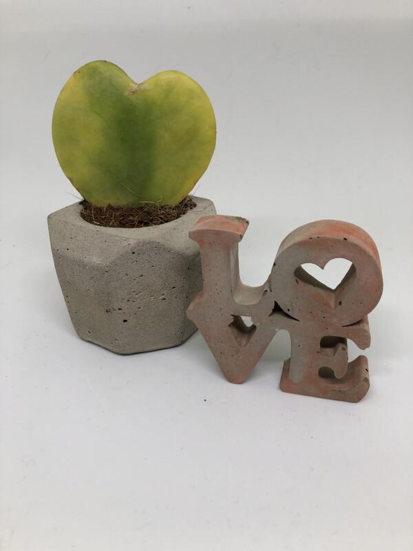 Concrete Love Sign