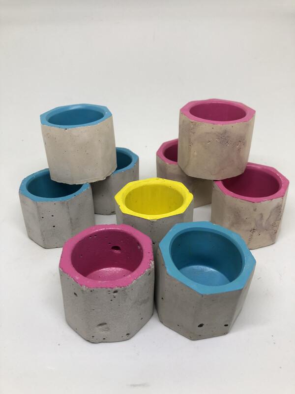 Coloured Tea Light Holders