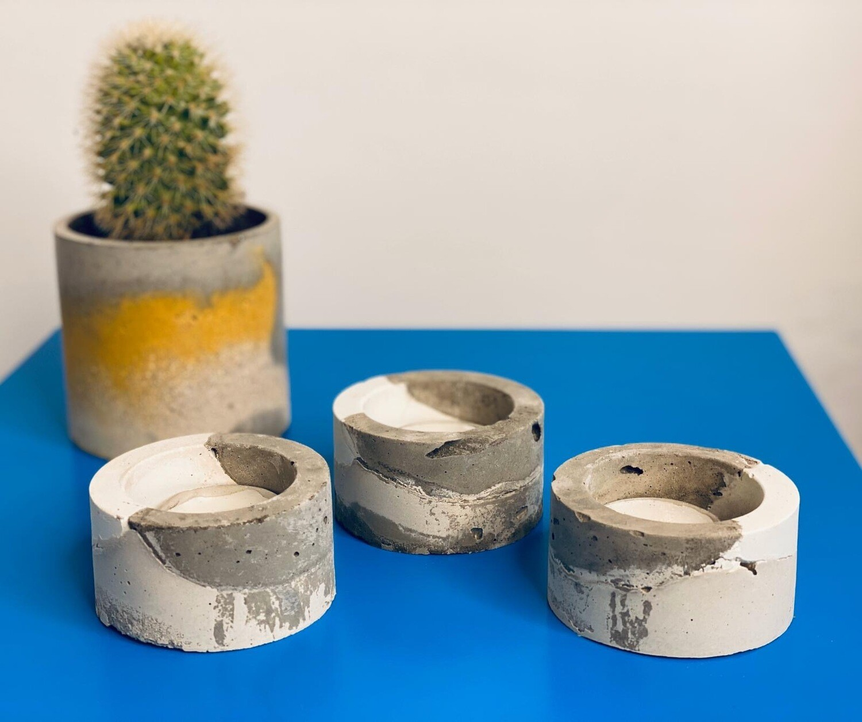 Concrete Tea Light Holder