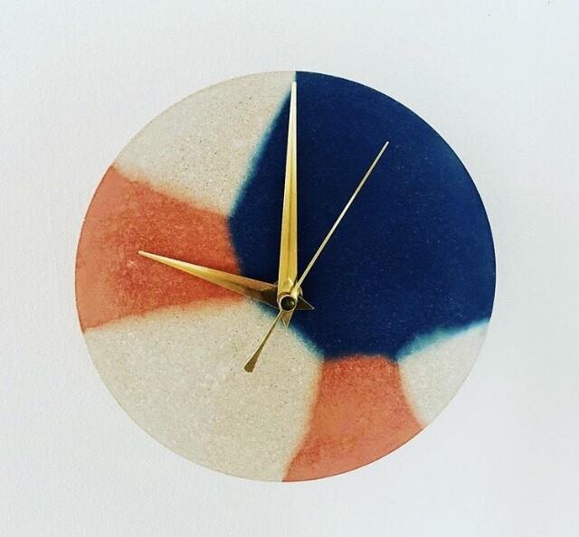 Mixed Colour Concrete Wall Clock