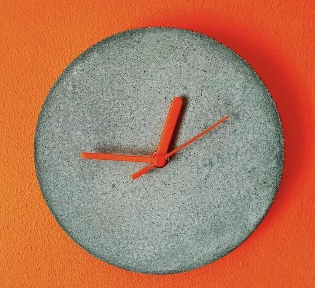 Raw Concrete Wall Clock