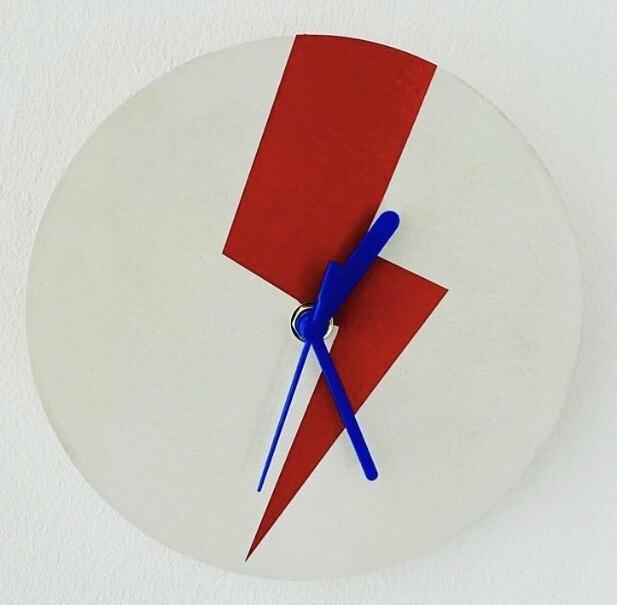 Concrete Bowie Clock