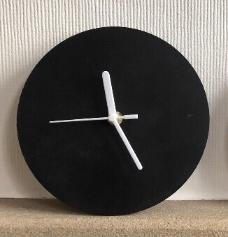 Concrete Wall Clock With Chalkboard Finish