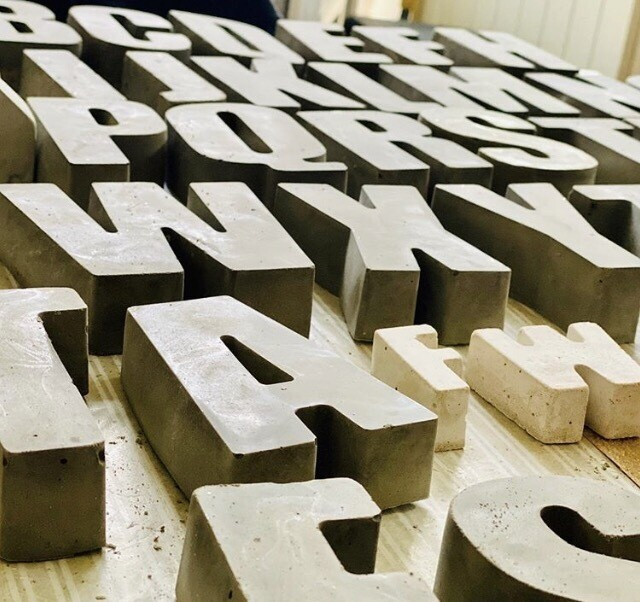 Large Concrete Letters From £5