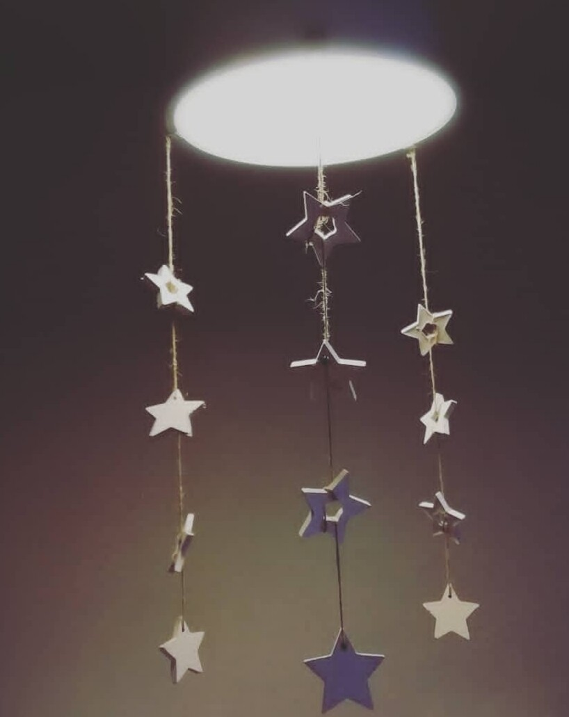 Hanging Concrete Stars