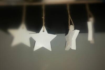 Plain Concrete Star Tree Decorations