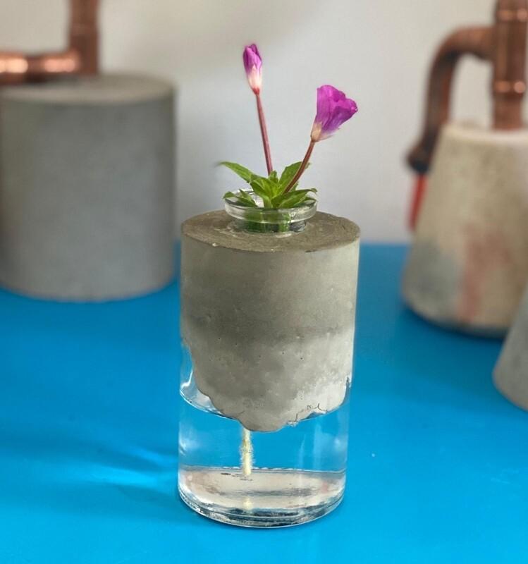 Concrete Bottle Vase