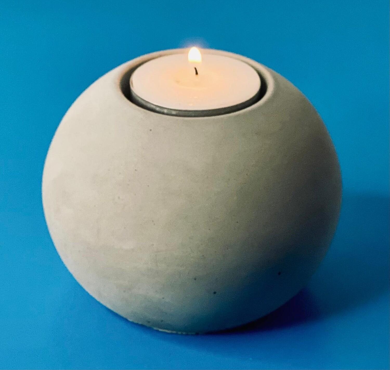 Concrete Sphere Tealight Holder