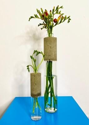 Concrete Bottle Vases