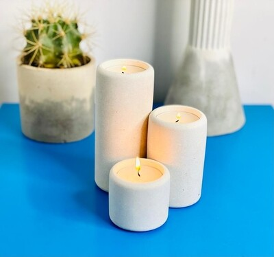 Concrete Cylinder Tealight Holders