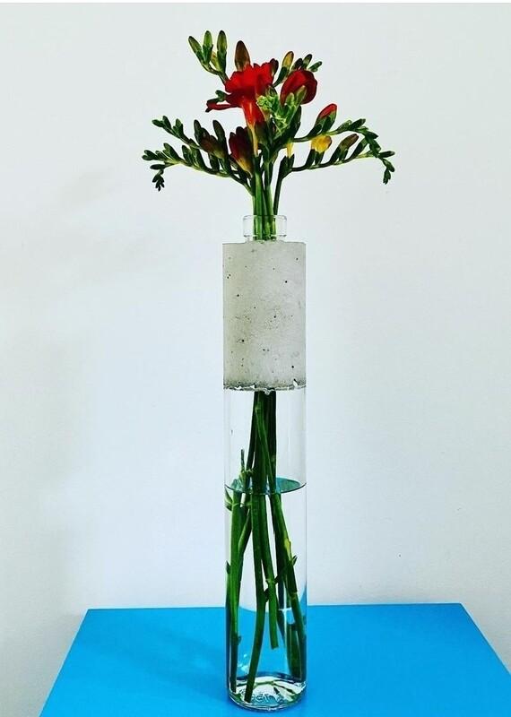 Large Concrete Glass Vase