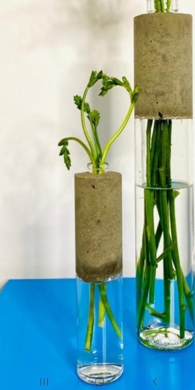 Medium Concrete Bottle Vases