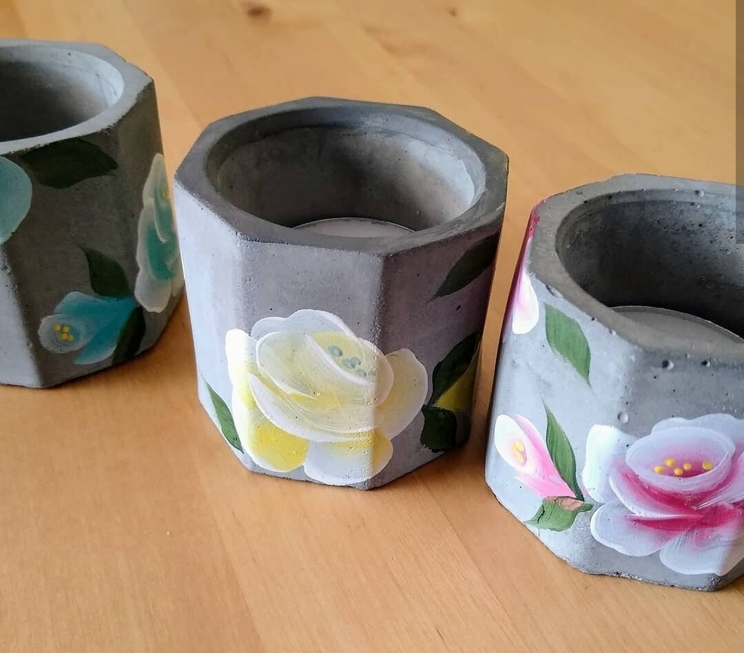 Hand Painted Tealight Holders
