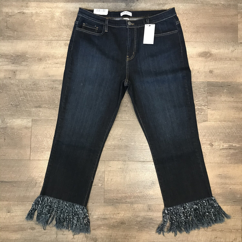 Judy Blue Plus Frayed Hem Straight Crop Jeans