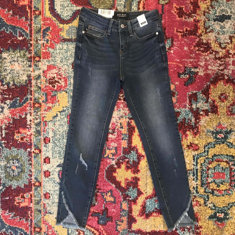 Judy Blue tulip front hem skinny jeans