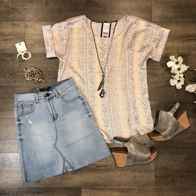 L&B Denim Skirt