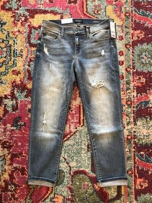 Judy Blue mid rise boyfriend destroyed jeans