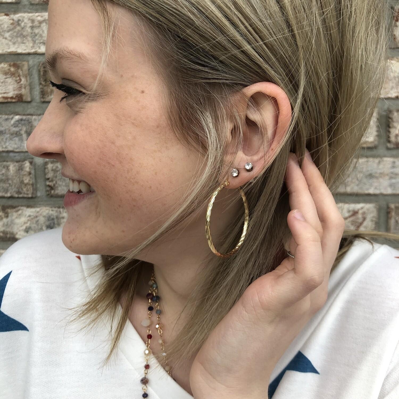 Chicago Textured Hoop Earrings