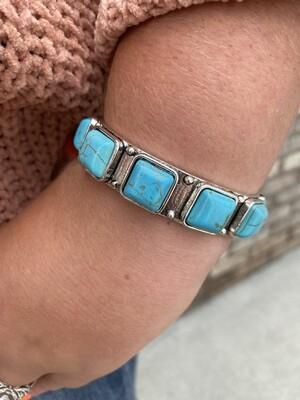 L&B Vintage Small Silver Cuff Bracelet