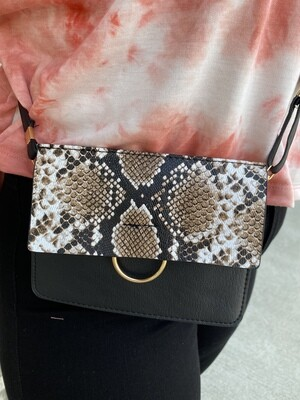 PP 2 Tone Crossbody with Gold Ring