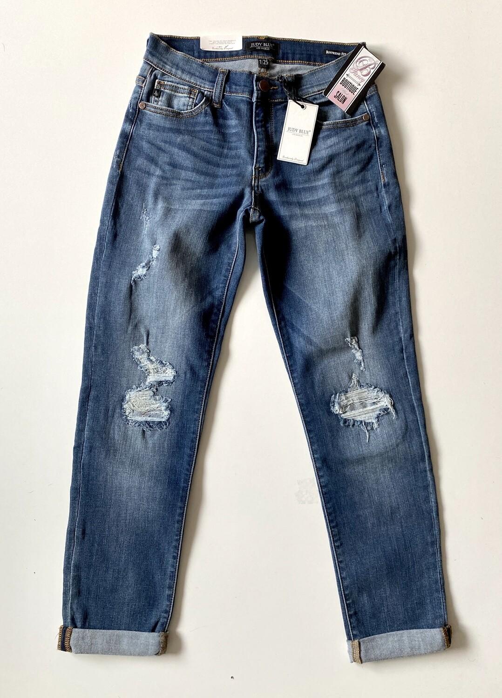Judy Blue cuffed destroy boyfriend jeans