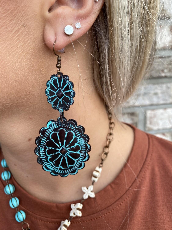 Tipi Bronze Patina Earrings