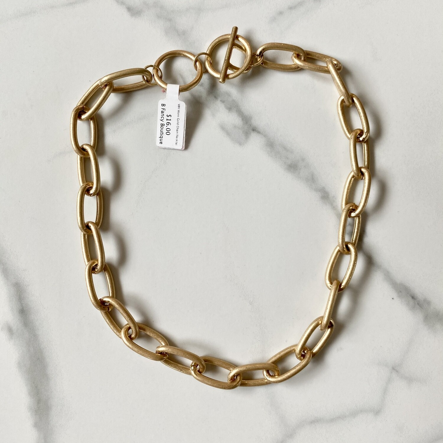 WH Worn Gold Chain Necklace