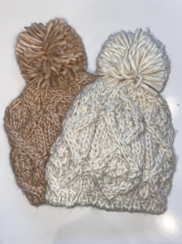 FA Textured Crisscross Crochet Hat