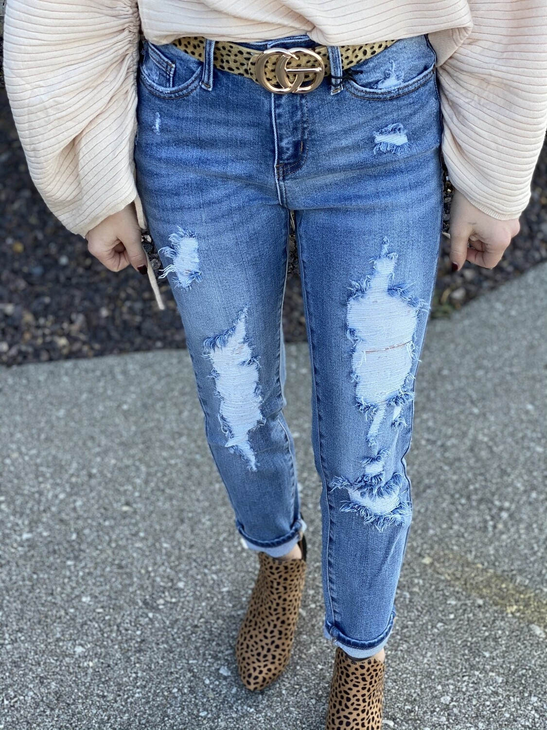 Judy Blue Destroy Relaxed Fit Jeans