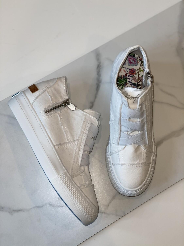 Blowfish Mamba White Tennis Shoe