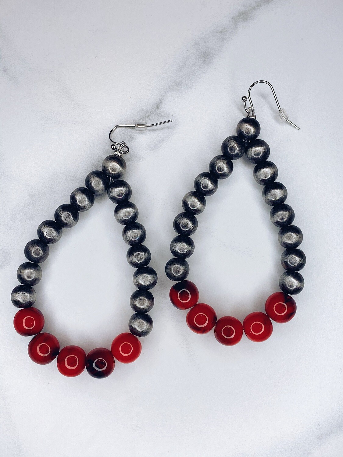 IT Navajo and Red Beaded Earrings