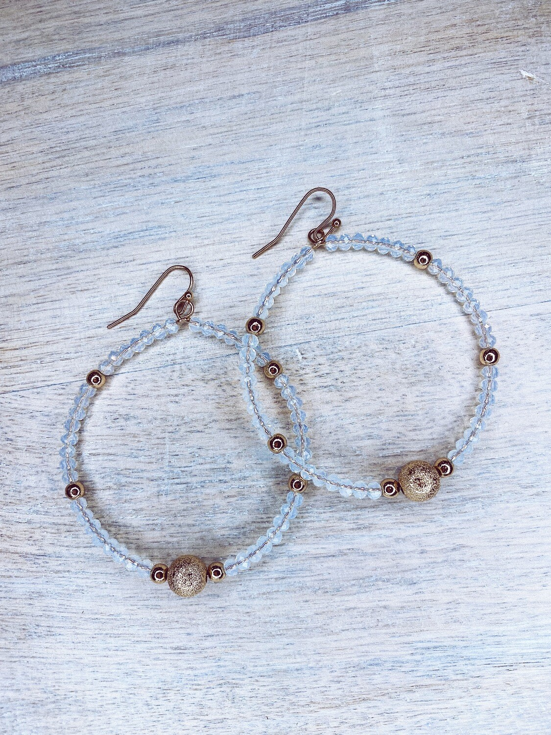 CH beaded earrings with accent beads
