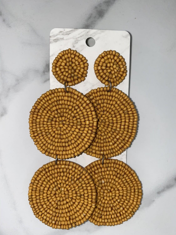 Three Circle Beaded Earrings