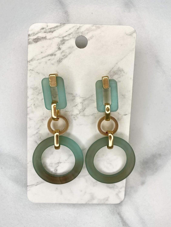 Mint Acrylic Dangle Earrings